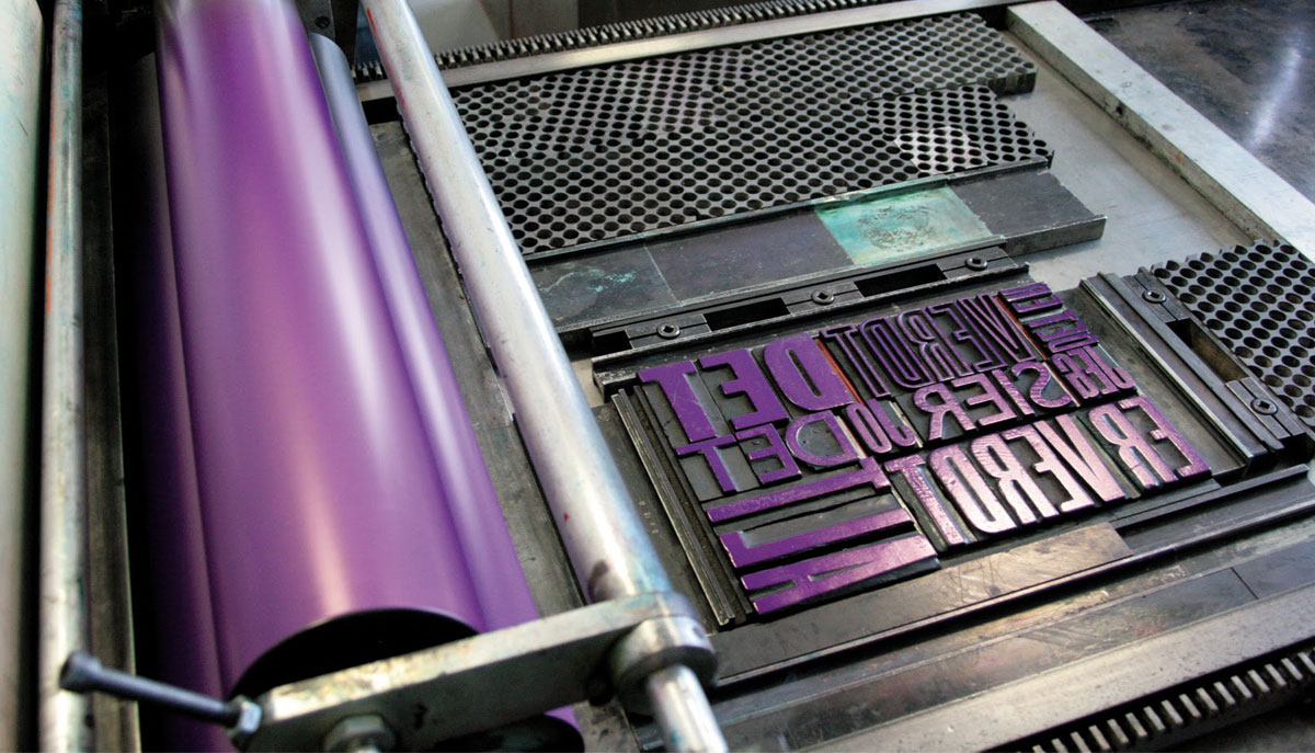 Letterpress, la finition vintage